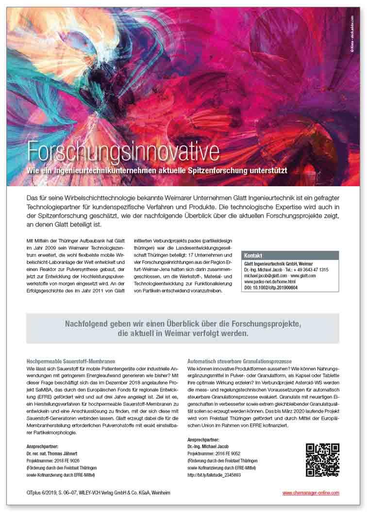Glatt_FA_071_Forschungsinnovative_Wie-ein-Ingenieurtechnikunternehmen-aktuelle-Spitzenforschung-unterstuetzt_de_CITplus_2019-06