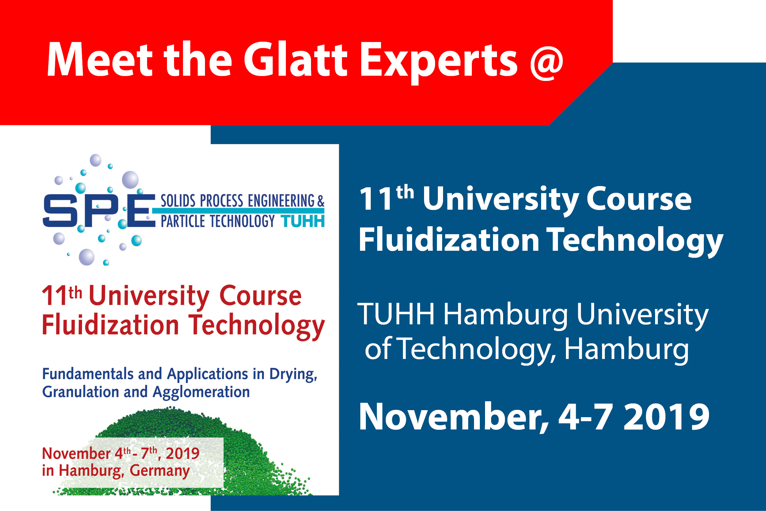 Meet the Glatt Experts @ 11th University Course Fluidization Technology in Hamburg