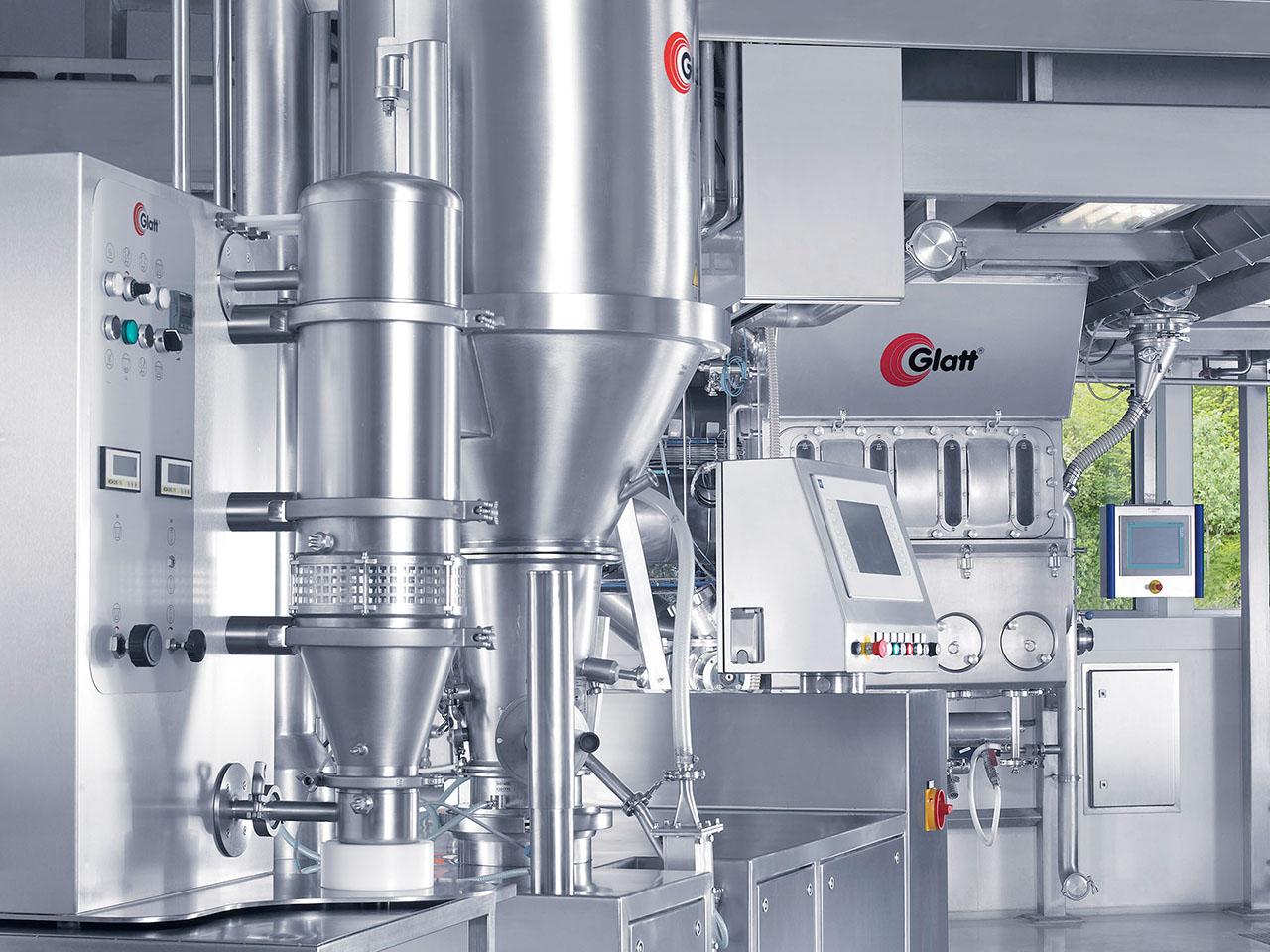 Fluid Bed Lab-Pilot-Production Equipment in the Glatt Technology Center Weimar