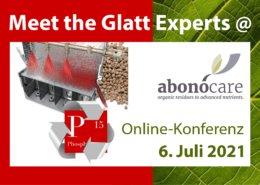 Treffen Sie die Glatt Experten auf der abonocare Online-Konferenz am 6. Juli 2021
