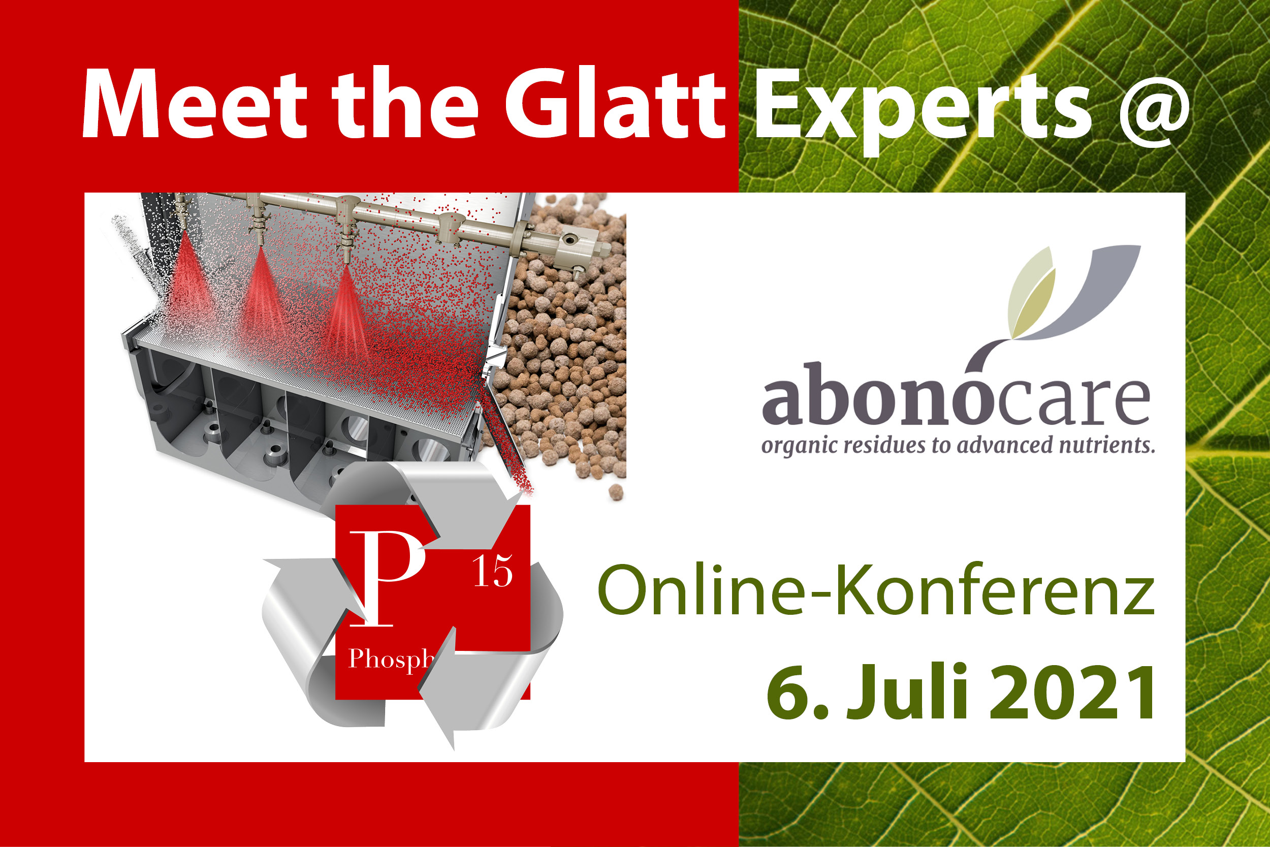 Meet the Glatt experts at the abonocare online conference on July 6, 2021