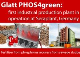 Glatt-PHOS4green_production start-up at Seraplant, Germany